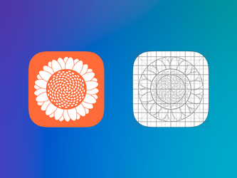 Sunflower IOS icon by AndreyRudenko
