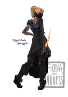 [closed] Adopt - Nightshade Smuggler by fionadoesadopts