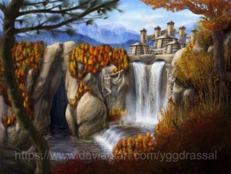 Autumn Valley by Yggdrassal