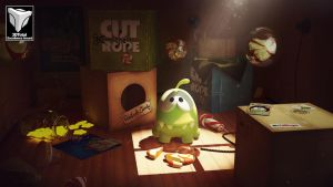 Om Nom: Cut The Rope - 3DTotal Excellence Award by Dmaghar