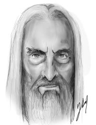 Saruman - Christopher Lee by vampipe
