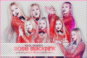 [PACK PNG #15] ROSE BLACKPINK by Yoonayoona