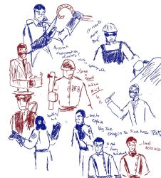 Team Fortress 2 doodles by LadyMordred