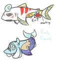 Fish Forms by royalraptors