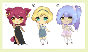 [Auction] Female Mixed Adopts - CLOSED by Ryno-Chalklut