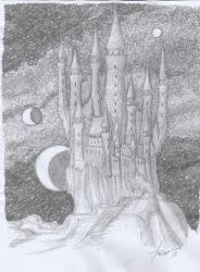 Castle At The Edge Of The World by dracontologe