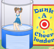 Cheerleaders an' Dunk Tanks by Sunflower-kun