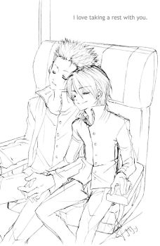 I love taking a rest with you. by CharmingYuuta
