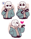 Bunch of Sans by ryllcat21