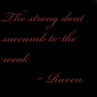 Strong and the weak. by GothicRavenMidnight