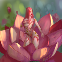 Flowerborn Zyra by Alloniya