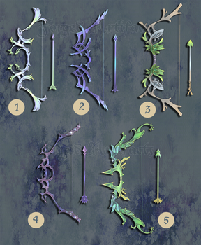 Weapon Adoption 13 Bow and Arrows SOLD by Forged-Artifacts