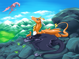 Two Dragons by Bestary