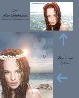 Mermaid before and after by FairieGoodMother