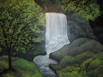 Waterfall mural by kaleidescape