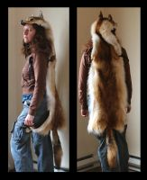 DutchessOfRoses' Red Coyote Headdress by lupagreenwolf