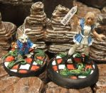 Alice and White Rabbit Miniatures by JordanGreywolf