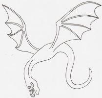 Flying Dragon LineArt by Maiko-Girl