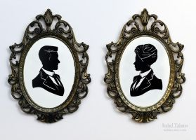 Lutece Twins Paper Silhouettes by fit51391