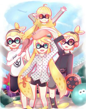 Yellow Team! Splatoon (COMMISSION) by Pokkiu