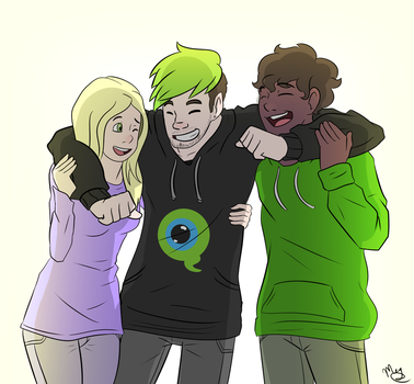 Jack, Jenny and Cliff from THE BOSS fangame by Ayyy-Imma-Ninja