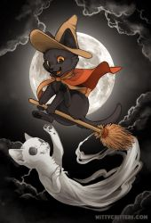 Broom Ride by Mewitti