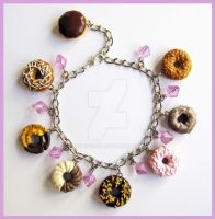 Sweet Donut Charm Bracelet by cherryboop