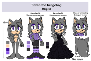 Darna the hedgehog reference by lizathehedgehog