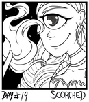 Inktober2018 - Day19 - Scorched by silverith