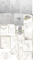 January 2015 Doodle Dump by MetalWolfGemstone