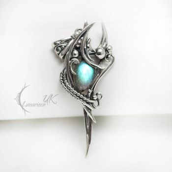 UNTURNX silver and labradorite by LUNARIEEN