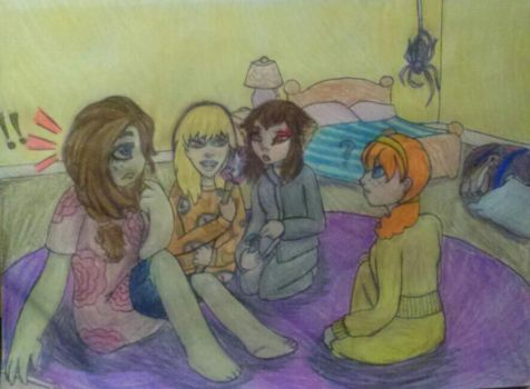 Slumber Party traditional style by TurtleChix