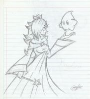 Rosalina and Luma (sketch) by MileenaKoopa