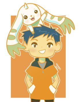 Henry and Terriermon by aerandel