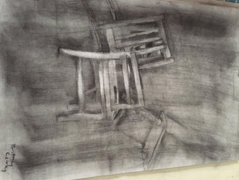 Chair piece w/ charcoal  by Lyizi