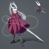 Hornet From Hollow Knight Humanized Fanart by eMCee82
