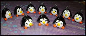 Chibi-Charms: Li'l Penguins by MandyPandaa