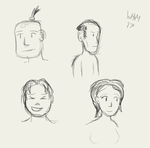 Face sketches by WHAMtheMAN