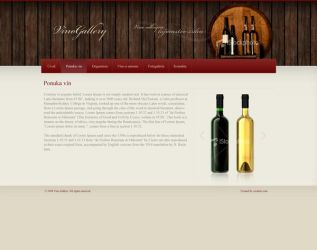Web Interface Wine Gallery by powers158