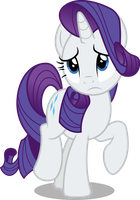 Rarity sad (Vector) by Chrzanek97