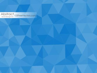 Dark Blue Polygonal Background Free Vector by 123freevectors