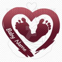 Decal - Baby Footprints Heart by TiaLorelei