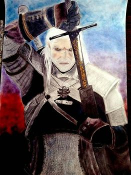 Geralt, White Wolf by sandy0411