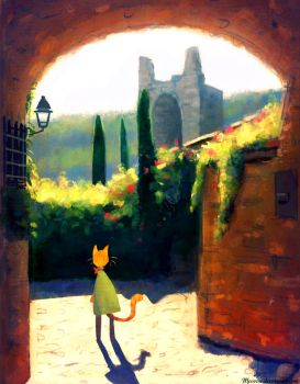 Walk Through the Ruins by Meorow