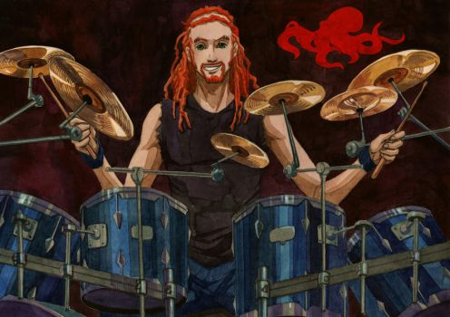 Pickles The Drummer by Aphiri