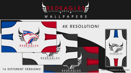 Easy Allies - Red Eagles - New Logo Wallpapers by kevboard