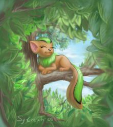 Neopet on the tree by Sy-Creich