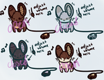 Open Speaker Mice by FayAdopts