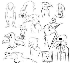 Mindless Sketchdump by Flight-Level