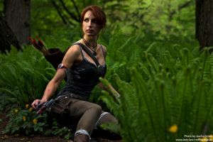 Lara in the forest by Lena-Lara